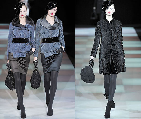 Giorgio Armani, мода осень-зима 2009, модная коллекция