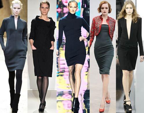 Модное маленькое черное платье. Осень, Зима: Akris, Collette Dinnigan, Blumarine, L'Wren Scott