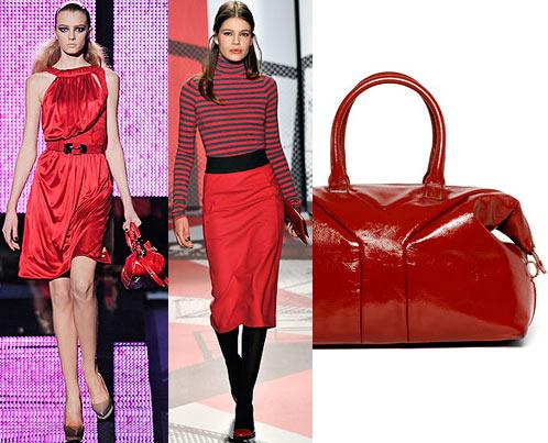 Мода: платье Versace, юбка и полосатый свитер DKNY, сумка Yves Saint Laurent