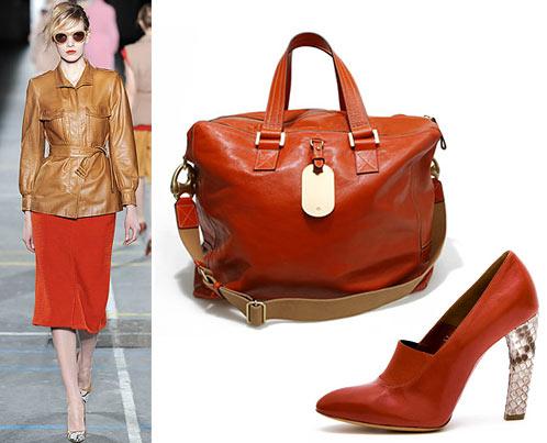 Мода. Осень. Модные тенденции: юбка Dries Van Noten, сумка Mulberry, туфли Dries Van Noten