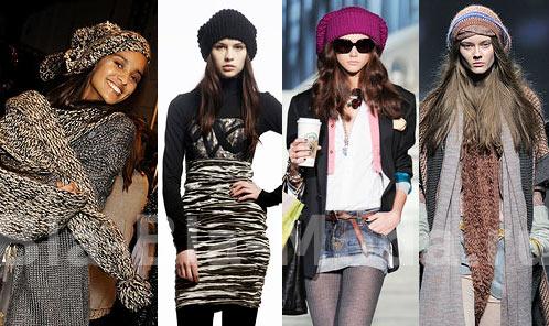 Модные береты: Diane von Furstenberg, Nicole Miller, Dsquaraed2, Missoni