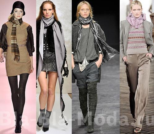 Как завязывать шарф. Мода: Осень, Зима. Модные шарфы: Milly, Just Cavalli, Isabel Marant, Ralph Lauren