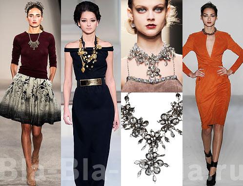 Модные украшения: бусы, ожерелья, колье