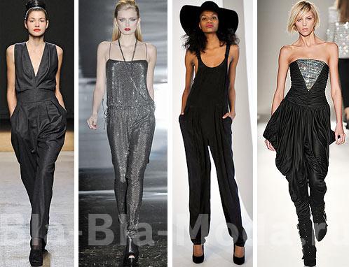 Модные комбинезоны женские: Yves Saint Laurent, Gucci, Organic by John Patrick, Balmain