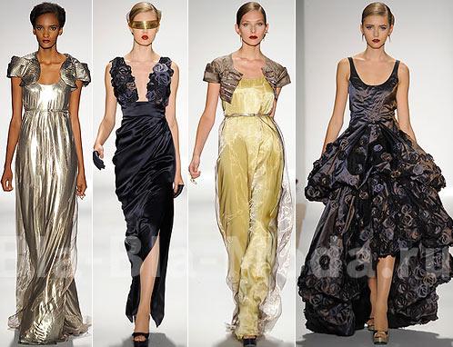 Длинные вечерние платья: серебристое платье