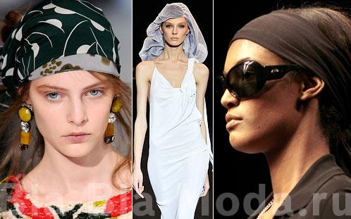 Платки на голову: Marni, Hussein Chalayan, Hermes