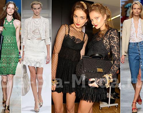Модное кружево: Diane von Furstenberg, Oscar de la Renta, Dolce & Gabbana, Stella McCartney