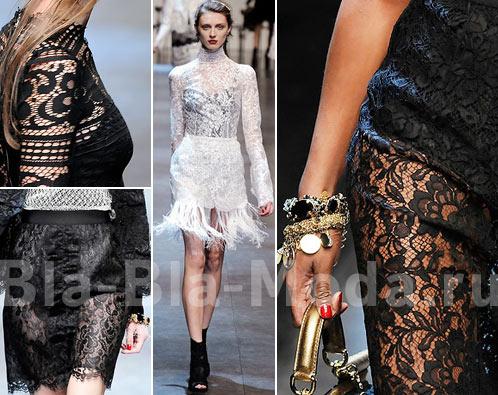 Модное кружево. Dolce & Gabbana