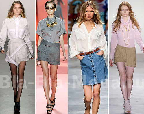 Мода. Модные рубашки: Proenza Schouler, 3.1 Phillip Lim, Stella McCartney, Altuzarra