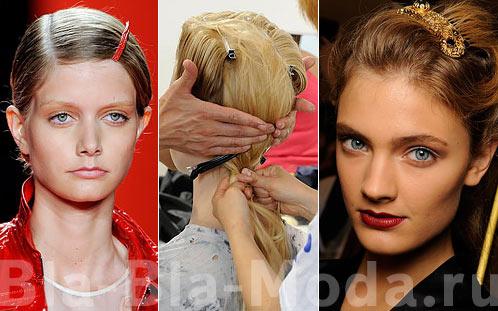 Модные заколки для волос: 3.1 Phillip Lim, Misson, Dolce & Gabbana