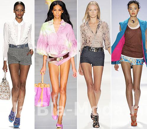 Короткие шорты: Rebecca Taylor, Blumarine, Carlos Miele, Nanette Lepore
