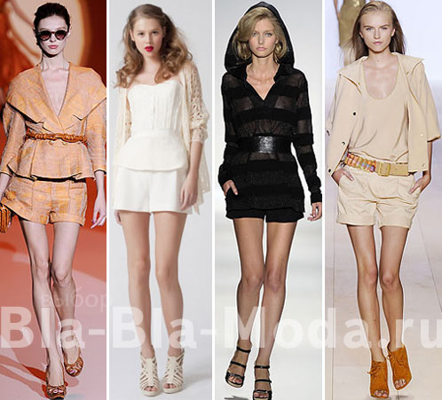 Шорты в цвет одежды: Carolina Herrera, Christian Cota, Tuleh, Tommy Hilfiger