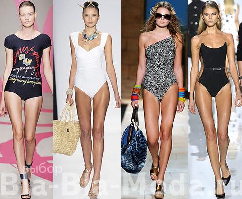 Мода. Модные купальники: DKNY, Badgley Mischka, Diane von Furstenberg, Michael Kors