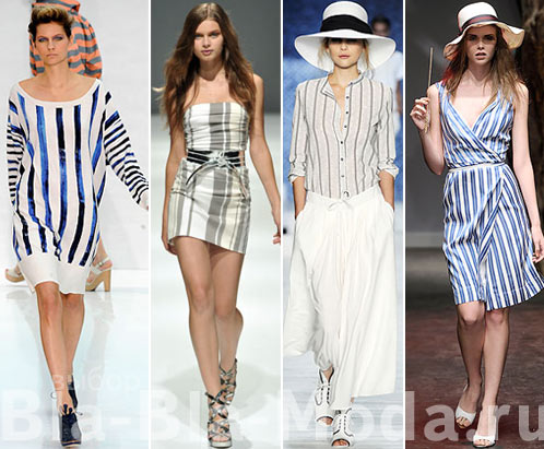 Одежда в полоску: Nicole Farhi, Talbot Runhof, Lacoste, Vivienne Westwood Red Label