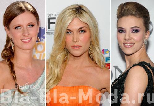 Модные прически знаменитостей: Ники Хилтон (Nicky Hilton), Тинсли Мортимер (Tinsley Mortimer), Скарлетт Йоханссон (Scarlett Johansson)