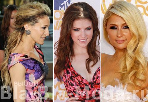 Прически знаменитостей: Сара Джессика Паркер (Sarah Jessica Parker), Анна Кендрик (Anna Kendrick), Пэрис Хилтон (Paris Hilton)
