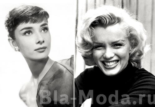 Мэрилин Монро и Одри Хепберн. Фото