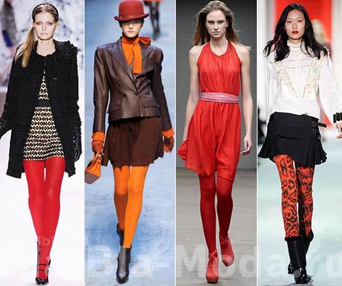 Колготки. Модные коллекции: Milly, Hermes, Mark Fast, Just Cavalli