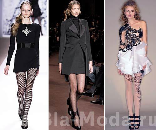 Колготки. Модные тенденции: Milly, Loewe, Marchesa
