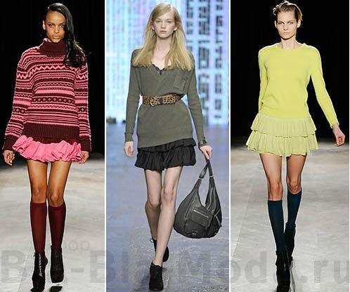 На фото: юбка и свитер Generra, юбка и свитер Banana Republic, юбка и свитер Generra
