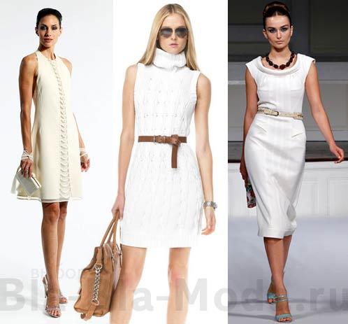 Элегантные белые платья: Chado Ralph Rucci, Michael Kors, Oscar de la Renta