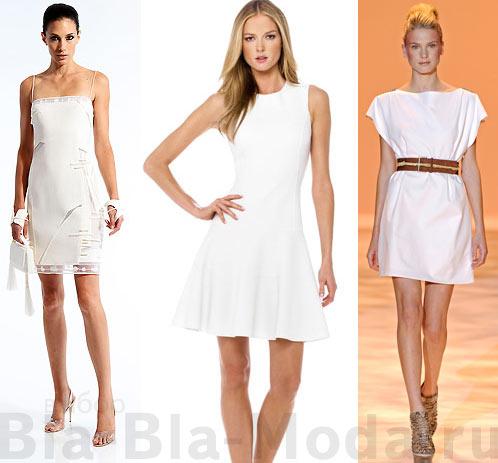 Модные белые платья: Chado Ralph Rucci, Michael Kors, Oscar de la Renta, Christian Siriano