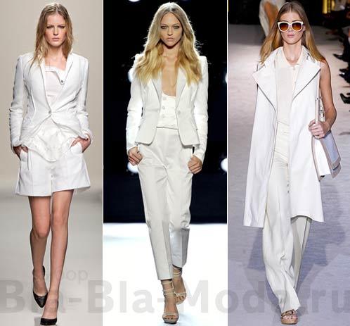 Одежда белого цвета из коллекций Bottega Veneta, Gianfranco Ferre, Stella McCartney