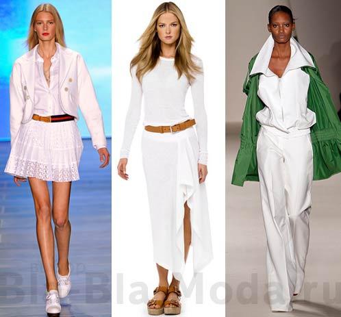 Одежда белого цвета из модных коллекций Tommy Hilfiger, Michael Kors, Akris