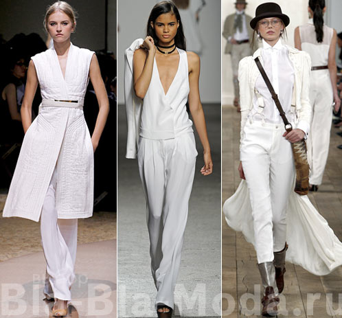 Модная одежда белого цвета из коллекций Celine, Cynthia Steffe, Ralph Lauren
