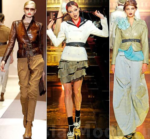 Модные куртки. На фото: Gucci, John Galliano