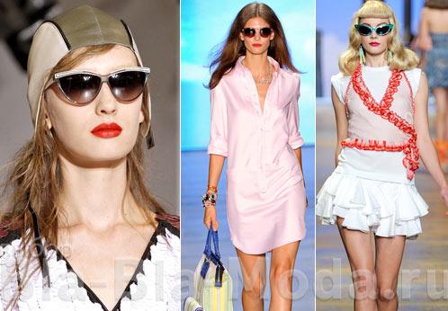 На фото модные солнцезащитные очки: Marni, Tommy Hilfiger, Christian Dior