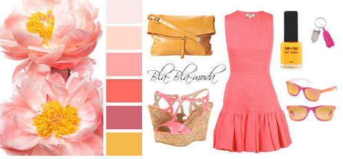 Shades of pink with yellow