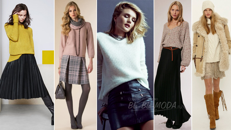 Photo, How to wear a sweater with skirt
