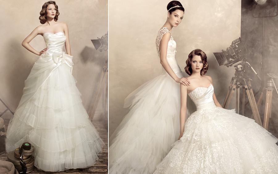 Пышные свадебные платья, фото из коллекции Papilio