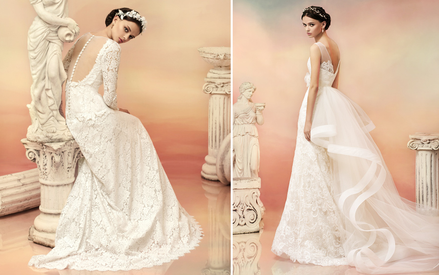 Lace wedding dresses, photo from the collection of Papilio