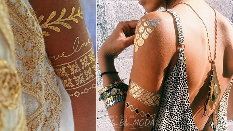 Metallic Flash tattoo on shoulder, a photo
