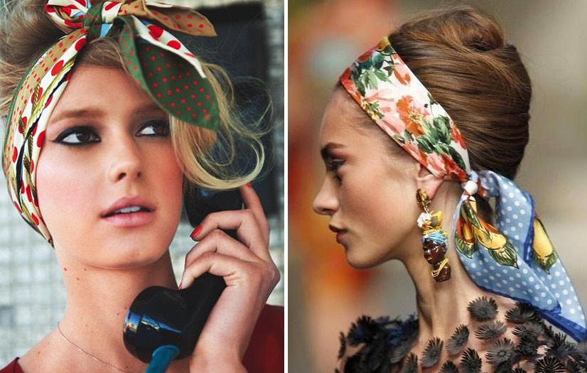 Повязка для волос – модная деталь образа