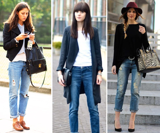 Photo, What to wear jeans in the autumn