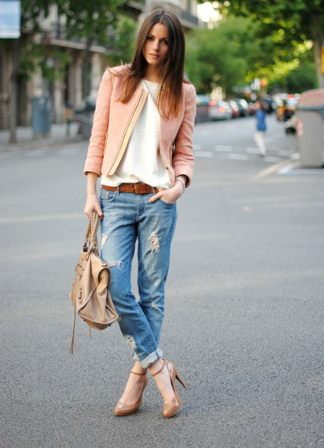 Jeans and pastel