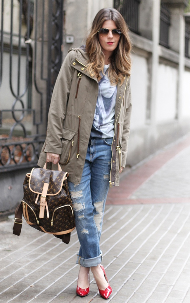 Jeans with parkoj