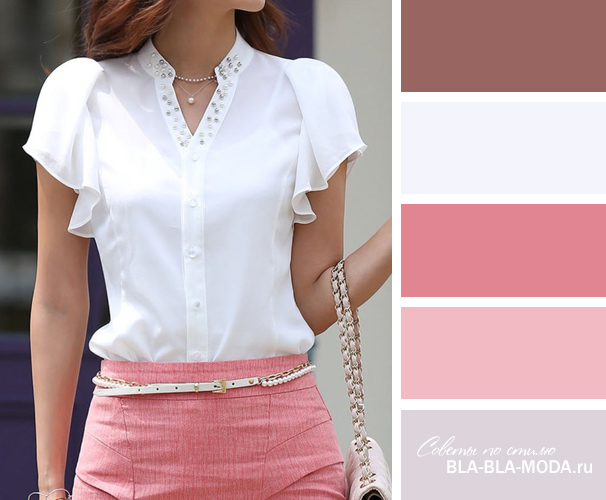Розовый с белым