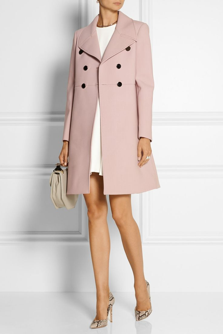 Pink coat with a dress