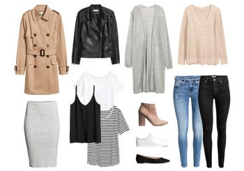 Base autumn wardrobe